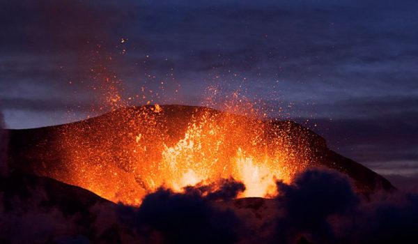 Vulkan i utbrudd, Island