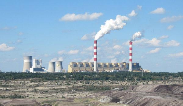 Kullkraftverk i Belchatow, Polen.