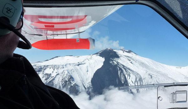 Nicarnica Aviations askekamera AVOID under testflyvning over Etna
