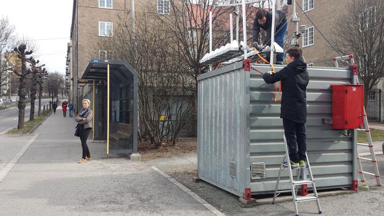 Installering av luftmåler ved målestasjon Kirkeveien