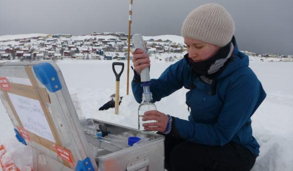 Vannprøvetaking ved Storvannet utenfor Hammerfest