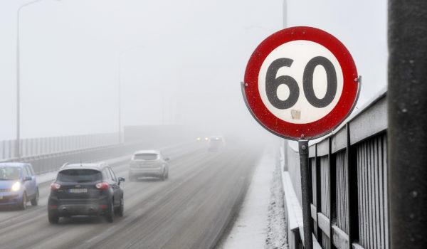 Fartsgrenseskilt, 60 kilometer i timen