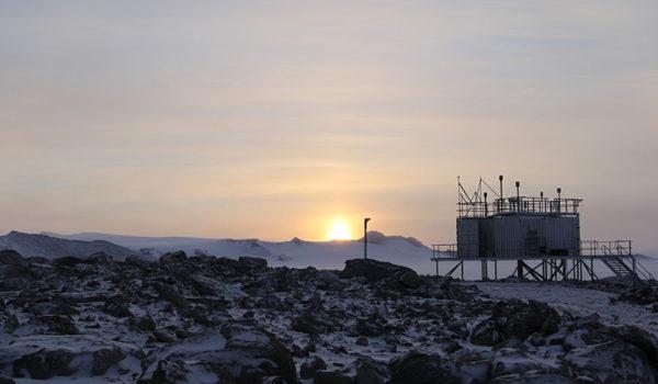 Trollhaugen-observatoriet i Antarktis