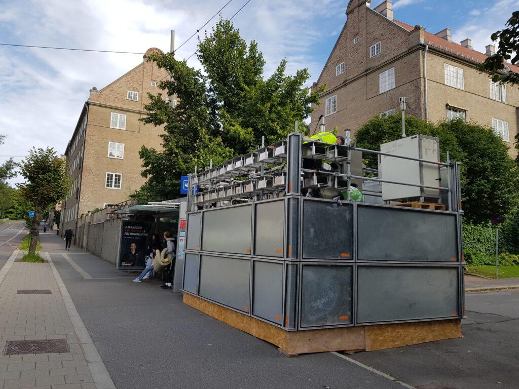 Lavkostsensorer montert på målestasjon i Kirkeveien