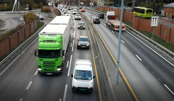 Trafikkbilde fra Ulven i Oslo