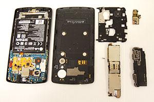Smarttelefon i deler