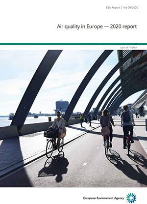 Forsiden av EEAs Air Quality Report 2020