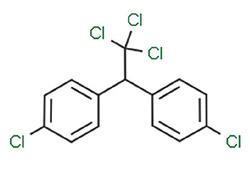 Figur 3: Molekylstrukturen til p,p'-DDT