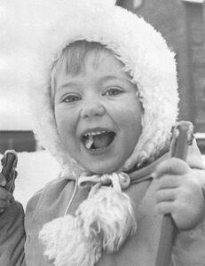 Linda Hanssen, 4 år