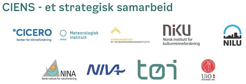 Logoer for samarbeidspartnerne i CIENS