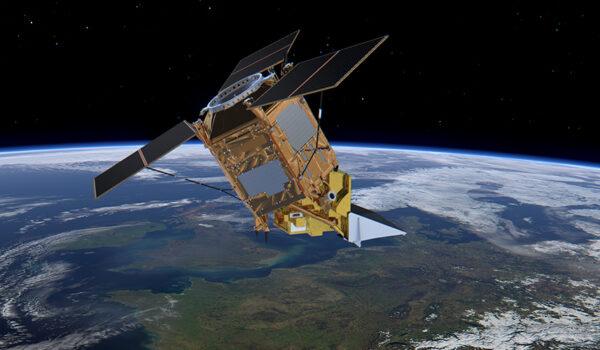 Satellitten Sentinel-5P over Europa