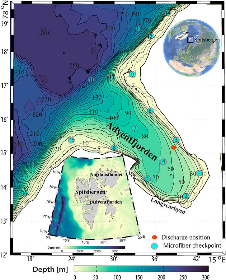 Oversiktskart over Adventfjorden